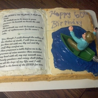 Fish For The Word Birthday Made this cake for coworker fathers birthday. Has his favorite bible verse and he loves fishing.