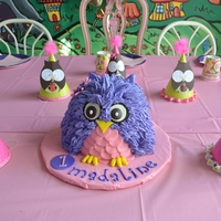 Owl Smash Cake made this for a friends daughters 1st bday smash cake