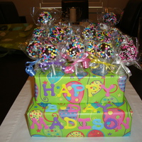 Cake Pops Made these for friends daughters bday party to give to the kids as gifts.