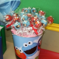 Sesame Street Cake Pops made these as favours for my daughers 3rd bday party
