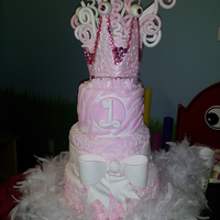 Girly Girl Turns One! I made this for my granddaughter's first birthday!