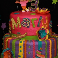 Marly's Birthday Fiesta! Made for a little girl celebrating her birthday on Cinco De Mayo. Iced in buttercream with fondant and gumpaste accents. Thanks to...