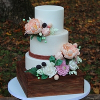 Rustic Floral Wedding Cake 2014 NC State Fair Cake - Have to say it - my favorite cake to date! (And also the most work I've had to attempt on a cake!) Four...