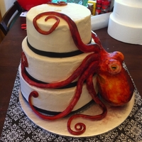 Octopus Wedding Cake Octopus wedding cake for a friend.