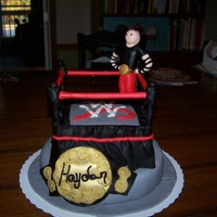 Wrestling Ring Cake For a real WWF fan!