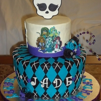 Monster High  I made this Monster High Cake for my best friend's daughter who turned 8. I tried to mimic the pattern that is seen in numerous...
