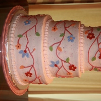 Strawberry Lemonade  Fresh lemon cake with fresh strawberry icing. The tiers are 10-8-6. This design was modeled after a very similar Pink Cake Box design, and...