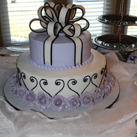 Bridal Shower Cake Bridal shower cake that was made to match the shower invitations.
