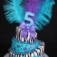 Zebra Topsy Turvy This was my first attempt at a topsy turvy cake! I've always wanted to try one. A little tricky, will probably do a few things...