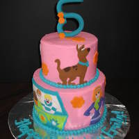 Scooby Doo Birthday A Scooby Doo cake for a little girl turning five.
