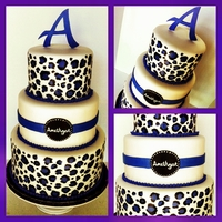Purple Leopard Cake