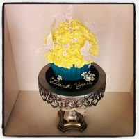 Butterfly Giant Cupcake