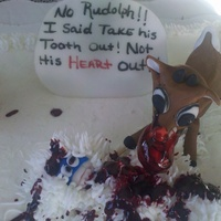 Noooo Rudolph! Believe it or not this was done for a 10yr Birthday. I was against it at first then i thought about it and asked for forgivness and this is...