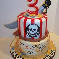 Pirate Birthday Cake Thanks to to many on cc for the inspiration!