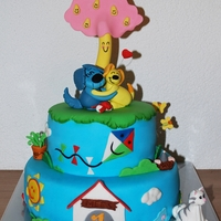 Woezel & Pip Cake Woezel & Pip are the adorable characters in a popular Dutch children's book series and TV show. Such a great cake to make!