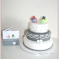 Tweet Tweet I Love You.. A wedding cake made with the invitation as inspiration!