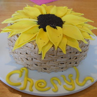 Sunflower Birthday Gluten free chocolate cake for a friend's birthday.