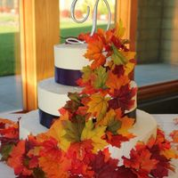 Fall Wedding   My first Wedding cake, done for my brother-in-law and his bride.