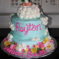 """heaven Sent"" Angel Baby Cake 1st birthday cake for my great niece who passed away at the age of 3 months."