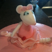 Angelina Ballerina Cake   Buttercream finish cake with fondant accents