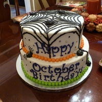 Spooky Spider Web All MMF with fondant accents