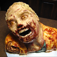 Walking Dead Zombie Cake This is a zombie cake I made based on a zombie/walker from AMC's The Walking Dead. I modeled it after one of Greg Nicotero's...