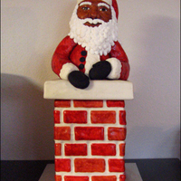 Santa In The Chimney Cake Chimney Is Strawberry Cake With Vanilla Swiss Meringue Buttercream Santa Is Rice Cereal Treats All Covered In M Santa in the chimney cake! Chimney is strawberry cake with vanilla Swiss meringue buttercream. Santa is rice cereal treats. All covered in...