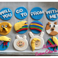 "Client Requested Adventure Time Cupcakes To Ask A Girl To Prom Promposal Characters Include Finn The Human Jake The Dog Lady Rainicorn Client requested Adventure Time Cupcakes to ask a girl to Prom. ""Promposal"" Characters include Finn the Human, Jake the Dog, Lady..."