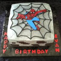 Spiderman Spiderman cake requested from client. Requested that spiderman looked like he was holding onto a gray wall. Thanks for looking!