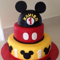 Mickey Mouse Client requested Mickey mouse cake for her sons first birthday. Thanks for looking!