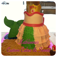 Client Requested Princess Cake Myas Favorite Disney Princess Is Ariel This Is The Design I Came Up With Thanks For Looking Client requested Princess Cake. Mya's favorite Disney Princess is Ariel. This is the design I came up with. Thanks for looking!!