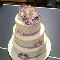 Purple Anemone Communion Cake