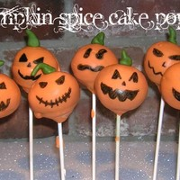 Jack O Lantern Cake Pops   OK, I'm joining the craze!