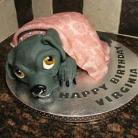 Puggle Cake Attached a photo the owner wanted me to base the cake off of, didn't add the white muzzle because I didn't want to remind the...