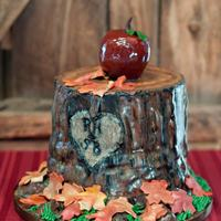 "Tree Stump Groom's Cake This is a cake I made for a ""style shoot"" that might be published in a local magazine! That would be huge for me!"