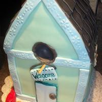 Birdhouse Cake   All fondant decorations and all cake inside!
