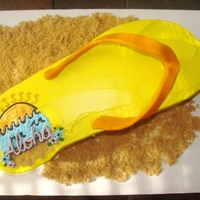 Hawaii Theme Flip flop with a Hawaii theme