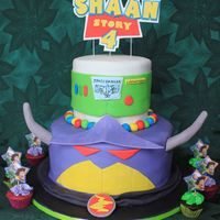 Toy Story - Buzz Lightyear And Emperor Zurg Cake topper is hand cut from gumpaste