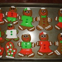 Gingerbread Men   Gingerbread men with royal icing