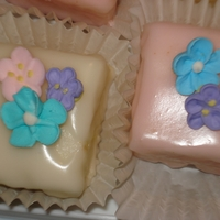 Petit Fours   Petit fours I made for Mother's Day