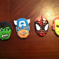 Superhero Cookies Superhero cookies I made for my husband for Father's Day.