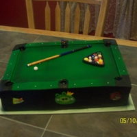 Pool Table Cake   a fully functional pool table cake, the birthday boy will be able to make a shot before he cuts it!