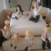 First Communion   15 children had their first communion and were all represented on the cake.