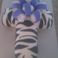 Zebra Cross Cake Please don't pay attention to the paper in bow....it was still drying and I had to deliver early :/
