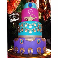 Jasmine And Aladdin Cake Jasmine and Aladdin cake all edible