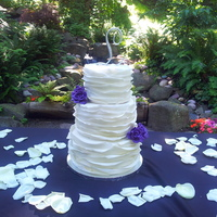 Wedding Cake This is a wedding cake I did for my cousin and his wifey back in June 30, 2013