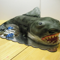 Great White Shark Cake Cake made for a birthday party that he loved sharks