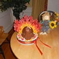 Gobble, Gobble!  I made this for my son's Pre-K party. The kids loved it. The idea was from the Wilton website. Although simple it was very time...