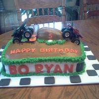 Monster Truck Cake This is a monster truck cake that I made for a friend's son that was turning 5. He loved it.