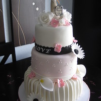 Love Is In The Air! I made this for my best friends bridal shower. It's my 1st three tiered cake. I used SPS and love it! Topper was purchased. She wanted...